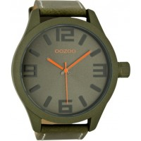 OOZOO Timepieces XXL Olive Leather Strap.