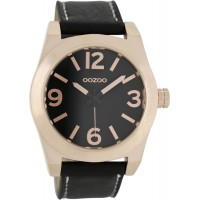 OOZOO Timepieces Black Leather Strap C6739