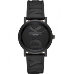 DKNY Women SoHo Three-hand Black Leather Watch