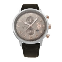 U.S. POLO Varenne Brown Leather Chronograph