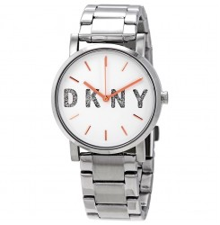 DKNY White Dial Stainless steel Ladies Watch