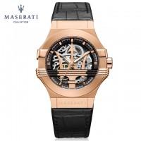 MASERATI Potenza Automatic Black/Skeleton Dial Men's Watch
