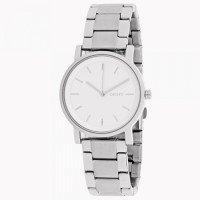 DKNY SoHo white dial Silver-tone Ladies Watch