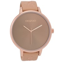 OOZOO TIMEPEACE woman watch with light pink leather strap