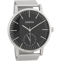 OOZOO TIMEPEACE men's watch with silver mesh bracelet