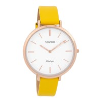 OOZOO TIMEPIECE yellow leather strap women watch