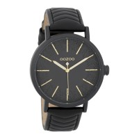OOZOO TIMEPEACE woman watch with black leather