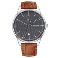 TOMMY HILFIGER Brown Leather Men's Watch