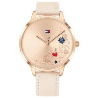 TOMMY HILFIGER Brown Leather Women's Watch